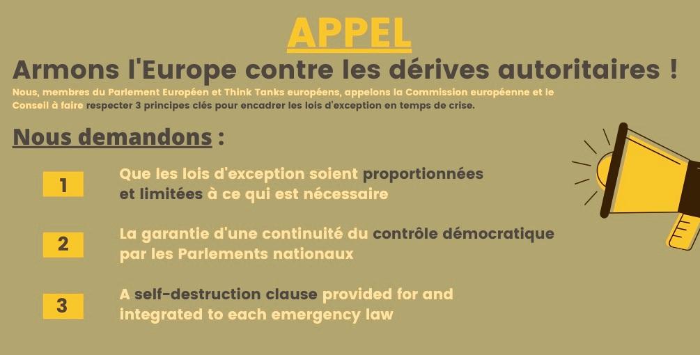 Armons l'Europe contre des dérives autoritaires