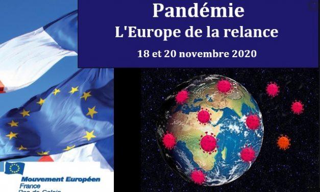 Mouvement européen : Pandémie – L'Europe de la relance